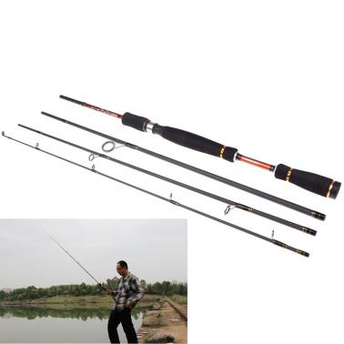Portable Fishing Pole Tackle 2.1M 6.89FT Carbon Fiber Spinning Lure Rod