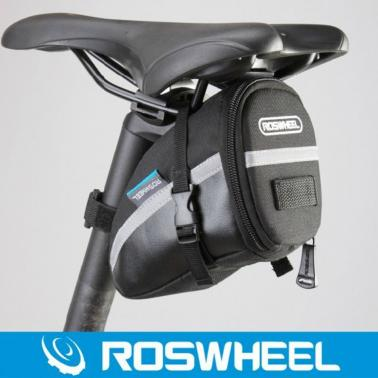 Roswheel Bicycle Strap-On Bike Saddle Bag-Black