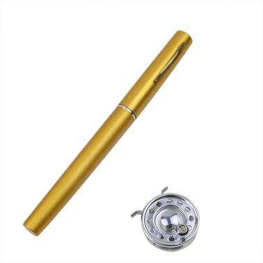 Mini Portable Pocket Aluminum Alloy Fishing Rod Pen Shape Pole Fish Reel Line Soft Bait Hook Float Tackle