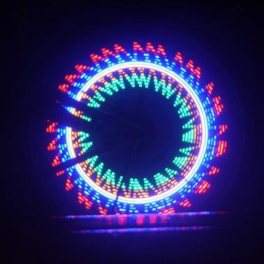 Colorful Bicycle Bike Cycling Wheel Spoke Light 32 LED 32-pattern Waterproof