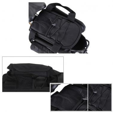 Cycling Bicycle Bike Rear Seat Trunk Bag Handbag Pannier Rain Cover Outdoor Traveling Rainproof Black