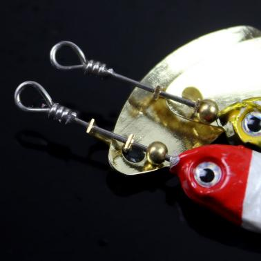 11g / 9cm Spoon Hard Fishing Lure Spinner Sequin Paillette Bait with Feather Hook Tackle