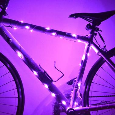 2 Modes 30 LED Lights Water Resistant Bicycle Bike Cycling Wire Tyre Wheel Spoke Light Lamp